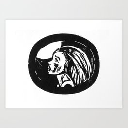 cry to the moon Art Print
