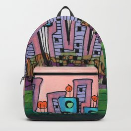 Waterfront Apartments Architectural Illustration 57 Backpack