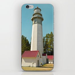 Grays Harbor Lighthouse Westport Washington Icon Landscape Coastal Northwest Maritime Fishing Boat N iPhone Skin