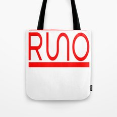 Rue Nothing RUNO Logo Red Tote Bag