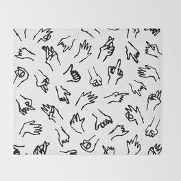 Bad Hands (White) Throw Blanket