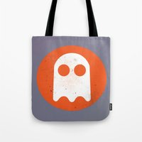 video game Tote Bags featuring Video game - Retro Vintage Fashion by totemxtotem
