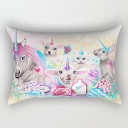 We All Just Want to be Unicorns Rectangular Pillow