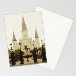 New Orleans Looking Through Jackson Square Stationery Cards