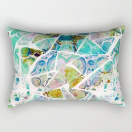Marbled Earth Blue Rectangular Pillow