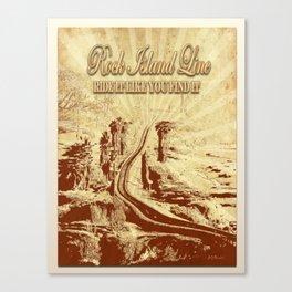 Rock Island Line Comics Canvas Print