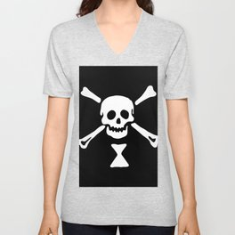 Emanuel Wynne Pirate Flag Jolly Roger Unisex V-Neck