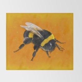 Fuzzy Bumblebee Throw Blanket