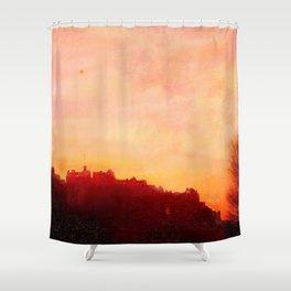 Edinburgh Castle Sunset Shower Curtain