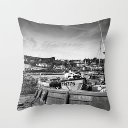 Coverack Trawlers Throw Pillow