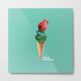 Xmas ice cream scone Metal Print