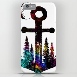 forest anchor iPhone Case