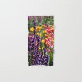 English country garden flowering border Hand & Bath Towel
