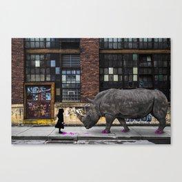 Real Rhinos Wear Pink Canvas Print