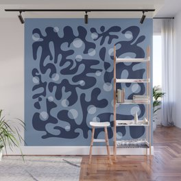 Floating Lanterns (Indigo) Wall Mural