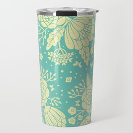 Teal Patterns Travel Mug