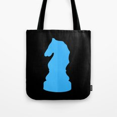 Blue Chess Piece - Knight Tote Bag