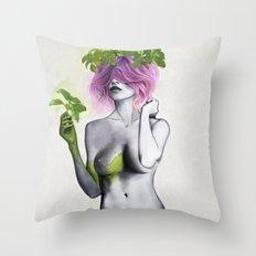 Garden Girls 1 - Basil Throw Pillow