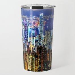Hong Kong City Skyline Travel Mug