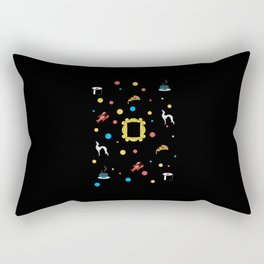 Friends doodling - black Rectangular Pillow