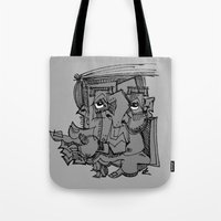 gnome Tote Bags featuring Gnome by 5wingerone