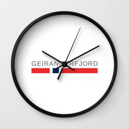 The Geirangerfjord Norway Wall Clock