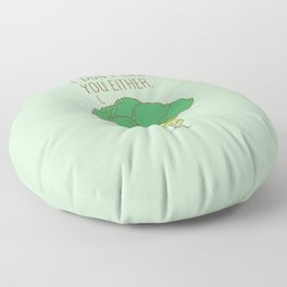 Broccoli don't like you either Floor Pillow