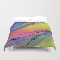native american Duvet Covers featuring Native American Flutes I by Jeannette Stutzman