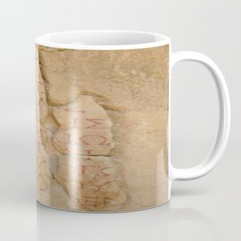 Inscription at the Library of Celsius, Ephesus, Turkey Coffee Mug