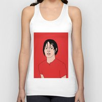 jack white Tank Tops featuring Jack White Portrait by eddieskeddy