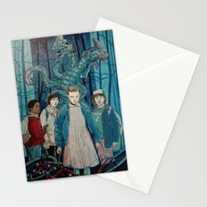 Stranger Things artwork painting Stationery Cards