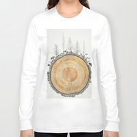tree rings Long Sleeve T-shirts featuring Tree Rings by dreamshade