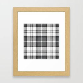Black & White Tartan Framed Art Print