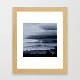 Abstract black painting 2 Framed Art Print