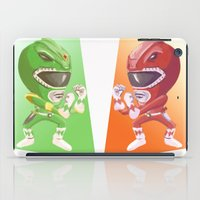 power rangers iPad Cases featuring Mighty Fightin' Power Rangers by garciarts