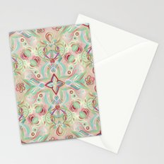 Soft Marsala and Sage Pattern Stationery Cards