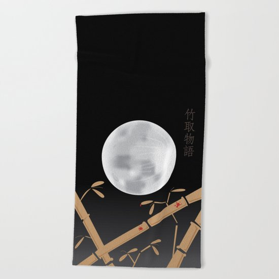 Tale of the Bamboo Cutter Beach Towel