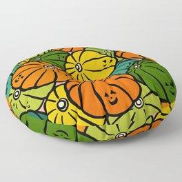 Halloween Pumpkins in Action Floor Pillow