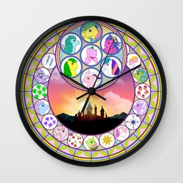 g1 my little pony dream castle stained glass collage 1 Wall Clock