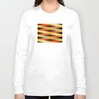 diamonds Long Sleeve T-shirts featuring multicolor diamond pattern by Gary Andrew Clarke
