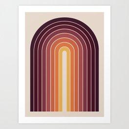 Gradient Arch - Sunset Art Print