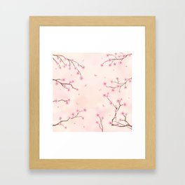Cherry Blossom Dream Framed Art Print