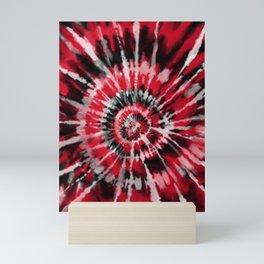 Red Tie Dye Mini Art Print
