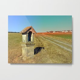 Wayside shrine with scenery 2 | landscape photography Metal Print