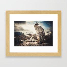 STONE PILAR Framed Art Print