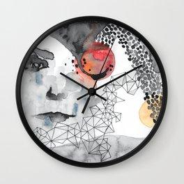 Red Sun Labyrinth Wall Clock
