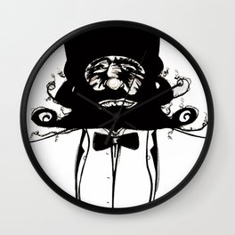 """Mustachat"" Wall Clock"