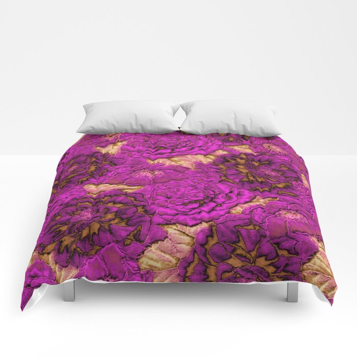 satin and lace flowers Comforters