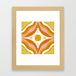 sunshine mandala Framed Art Print