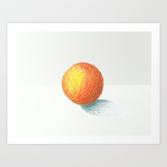 Crayon Love: Simple Orange Art Print